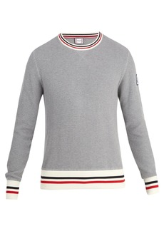 Moncler Crew-neck waffle-knit cotton sweater