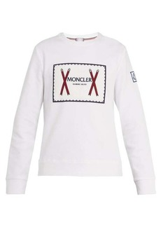 Moncler Gamme Bleu Embroidered-logo cotton-blend sweatshirt