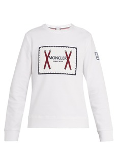 Moncler Embroidered-logo cotton-blend sweatshirt
