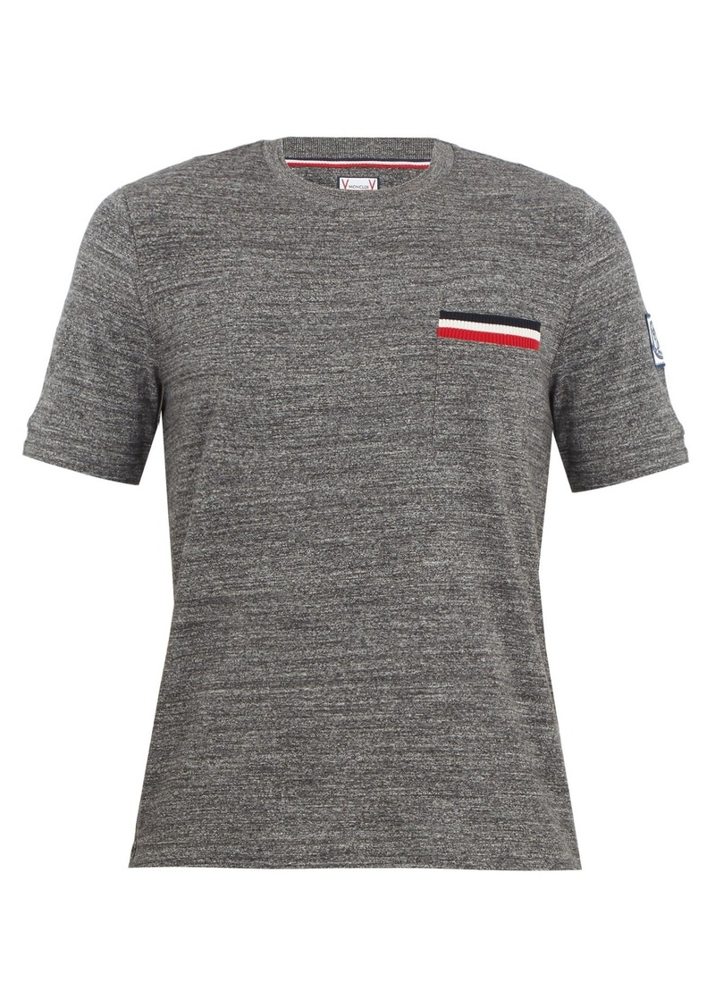 fc6d8733 Moncler Moncler Gamme Bleu Patch-pocket cotton T-shirt | T Shirts