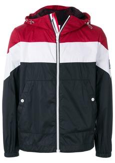 Moncler striped hooded jacket