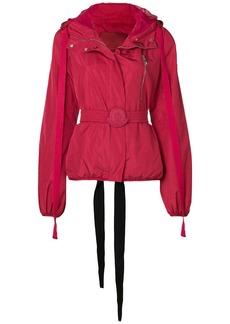 Moncler Gamme Rouge belted bomber jacket - Red