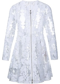 Moncler Gamme Rouge clear PU floral lace coat - White