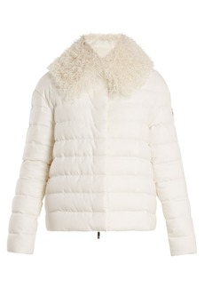 Moncler Gamme Rouge Shearling-trimmed quilted-down cashmere jacket
