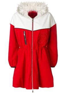 Moncler shearling collar jacket