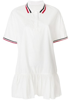 Moncler Gamme Rouge trim peplum polo dress - White