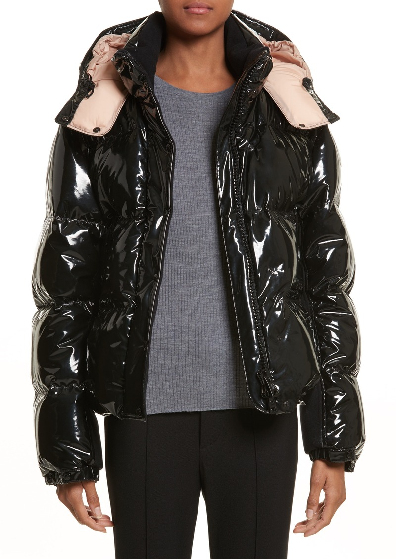 2cb5a2929 Gaura Shiny Down Quilted Puffer Coat