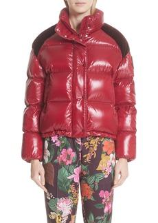 Moncler Genius by Moncler Chouette Velvet Trim Down Puffer Coat
