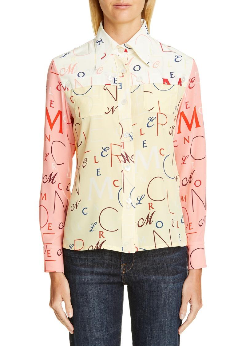 f26d3e12b Genius by x 2 1952 Letter Print Silk Shirt