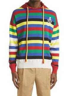 Moncler Genius 1 Moncler JW Anderson Men's Stripe Cotton Sweater Hoodie