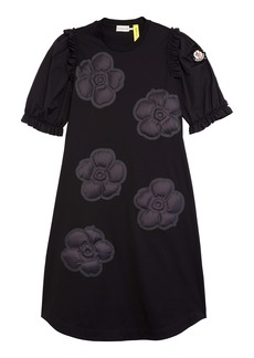 Moncler Genius x 4 Simone Rocha Floral Appliqué T-Shirt Dress