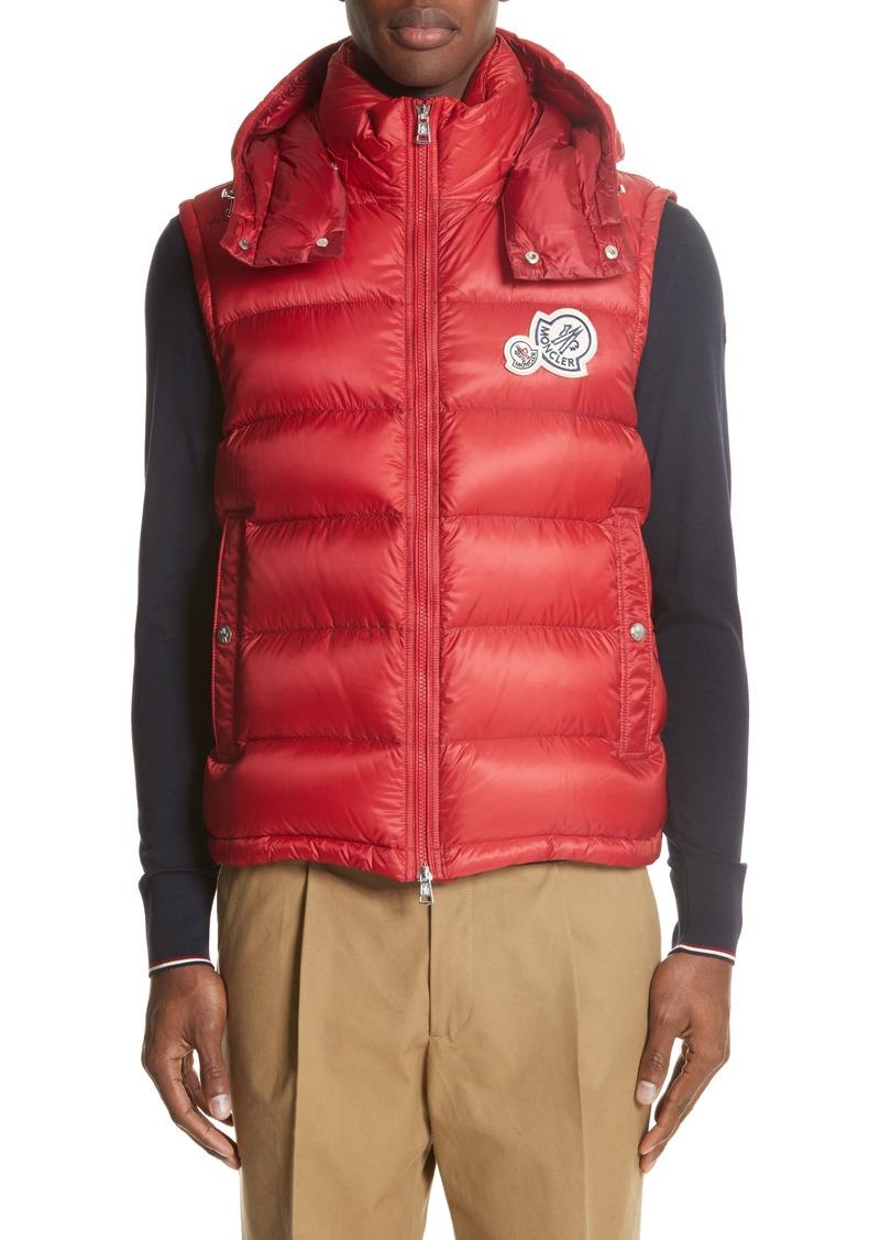 7d51b50beb7956 Moncler Moncler Gilet Double Logo Hooded Vest