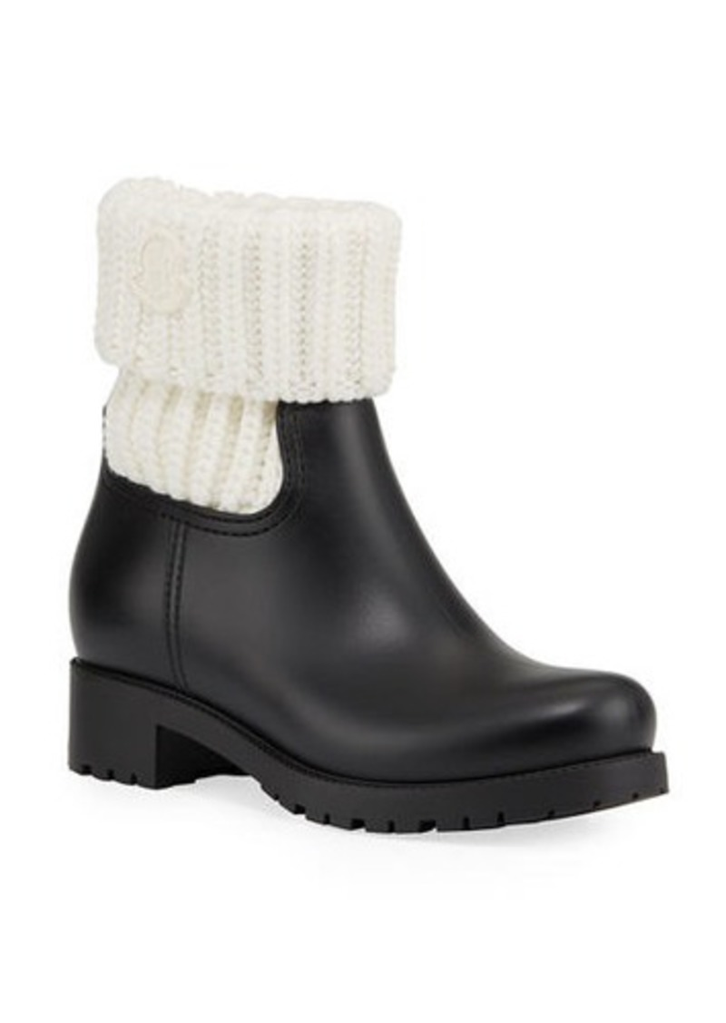 Moncler Ginette Cuffed Rain Boots