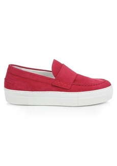 Moncler Giselle slip-on suede trainers