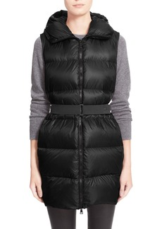 Moncler 'Glykeria' Water Resistant Hooded Down Puffer Vest