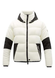 Moncler Grenoble Hooded quilted-down fleece ski jacket