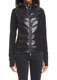 Moncler Grenoble Hooded Down Front Fleece Jacket