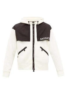 Moncler Grenoble Hooded logo-print fleece ski jacket
