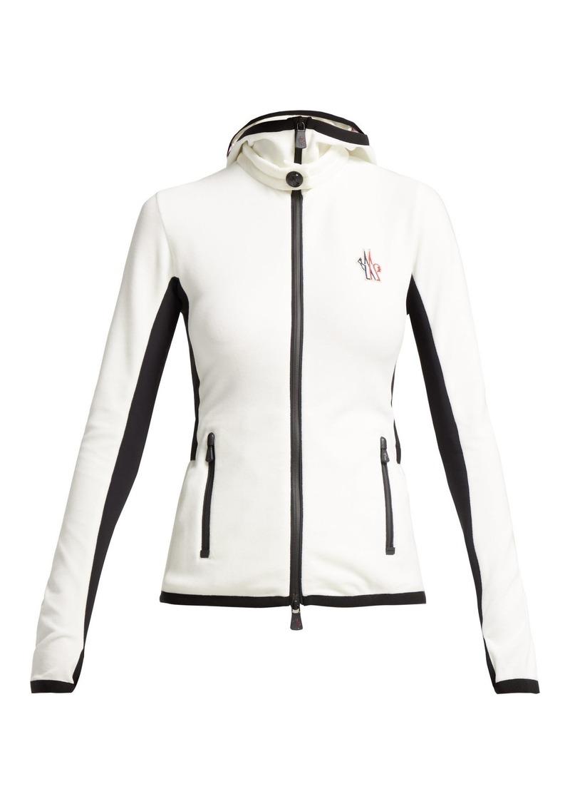 4fd1567e026d Moncler Moncler Grenoble Logo-embroidered hooded fleece jacket ...