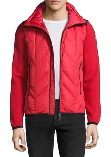 Moncler Grenoble Puffer-Front Zip Sweater