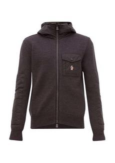 Moncler Grenoble Zip-through hooded sweatshirt