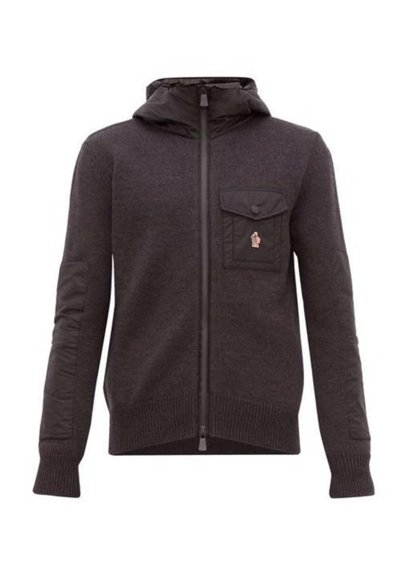 Moncler Grenoble Logo-appliqué zip-through jacket