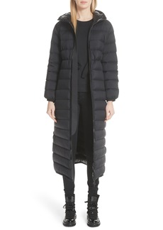 Moncler Grue Long Quilted Down Coat