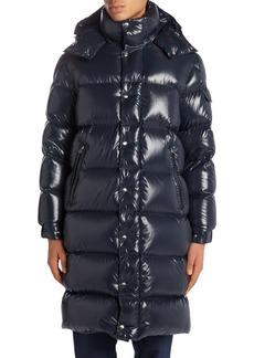 Moncler Hanoverian Long Hooded Puffer Coat