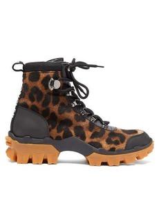 Moncler Helis leopard-print calf-hair hiking boots