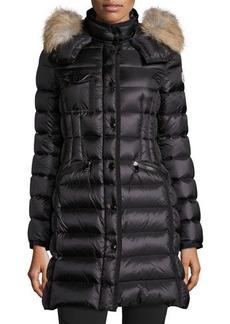 Moncler Hermifur Snap-Front Puffer Coat