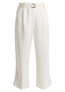 Moncler High-rise crepe cropped trousers