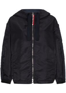 Moncler logo-sleeve hooded jacket