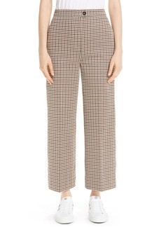 Moncler Houndstooth Straight Leg Pants