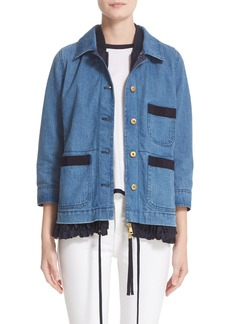 Moncler Houx Contrast Inset Denim Jacket
