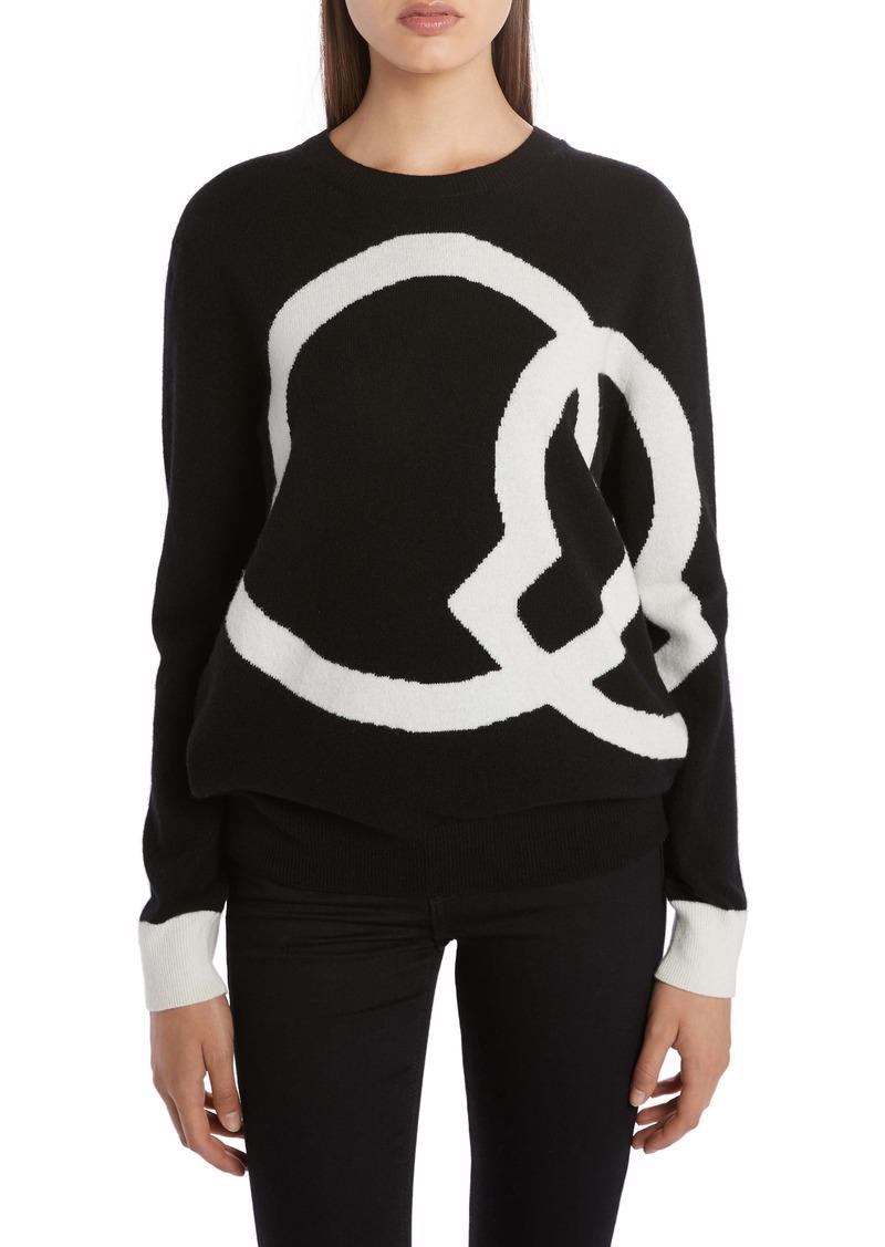 Moncler Interlocking Logo Wool & Cashmere Sweater
