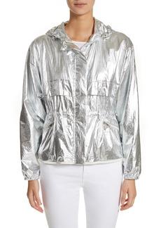 Moncler Jais Metallic Hooded Raincoat