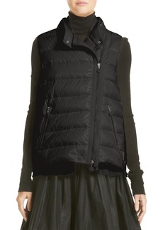 Moncler Jane Mixed Media Down Puffer Vest