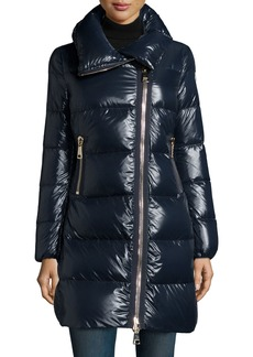 Moncler Joinville High-Collar Puffer Jacket
