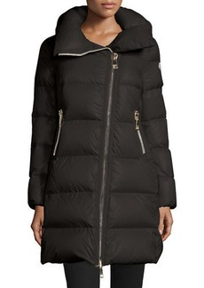 Moncler Joinville Long Asymmetric Puffer Jacket