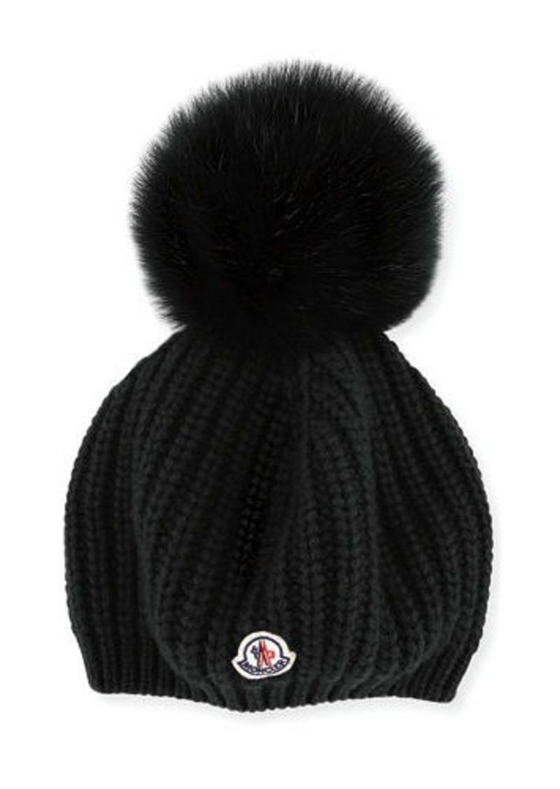 Moncler Moncler Jumbo Fur Pompom Beanie Hat  f564c58c176