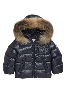 Moncler K2 Water Resistant Hooded Down Jacket with Genuine Fox Fur Trim (Baby)