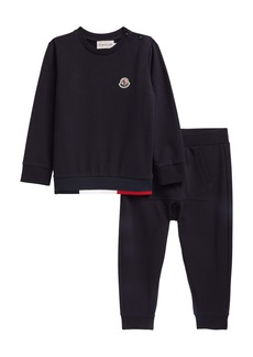 Moncler Kids' Logo Patch Sweatshirt & Joggers (Baby & Toddler)