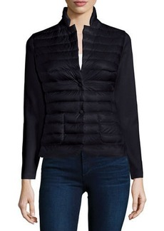 Moncler Knit Blazer with Puffer Front