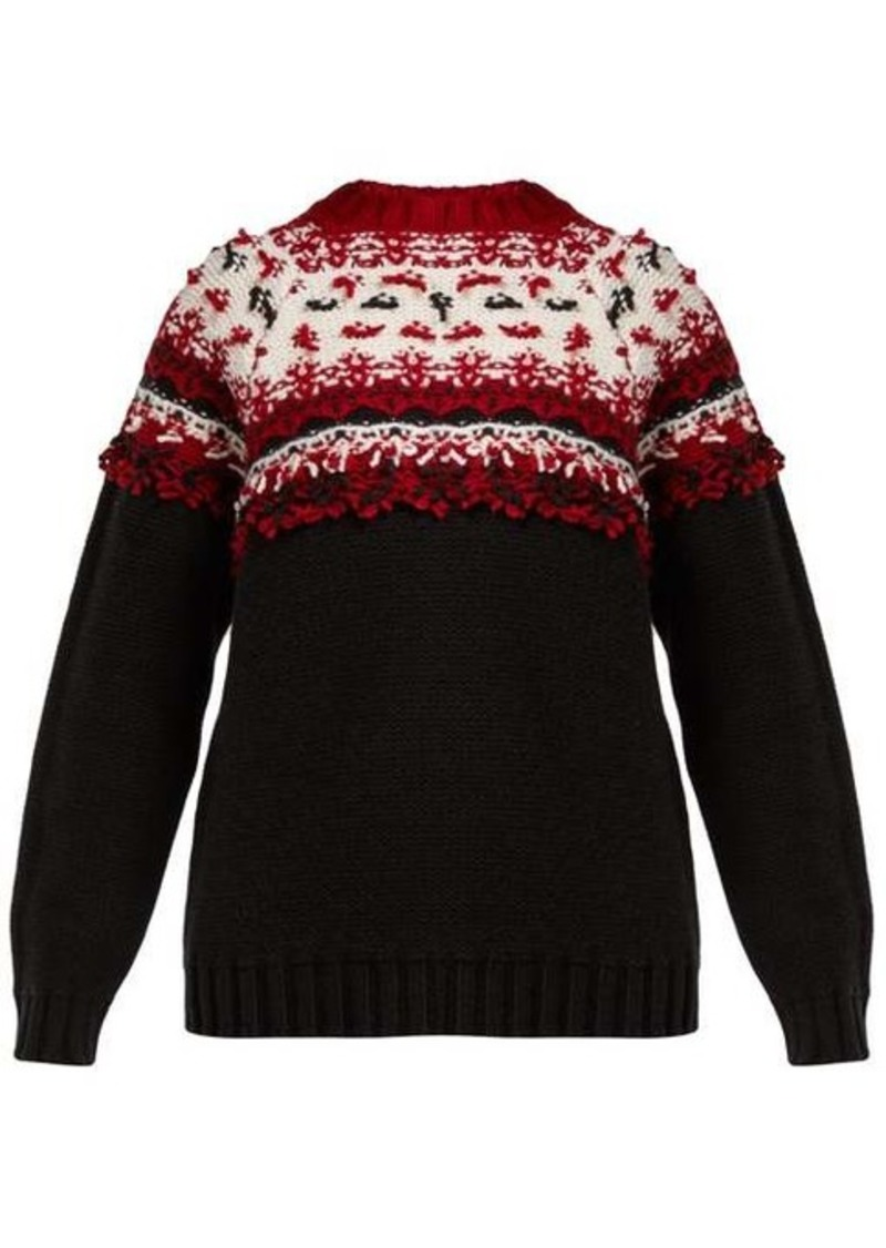 Moncler Knitted wool sweater