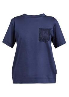 Moncler Lace-pocket mercerised-cotton T-shirt