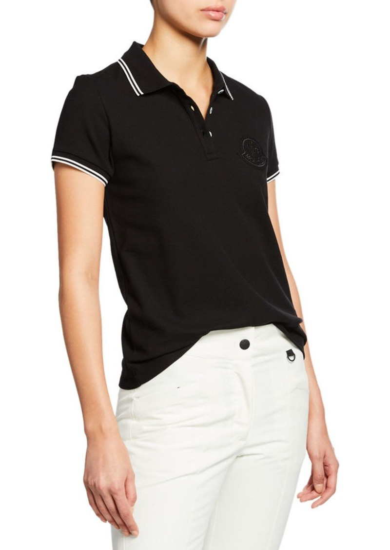 254754843 Large Logo Patch Polo Shirt