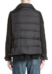 Moncler 'Laurine' Mixed Media Down Jacket