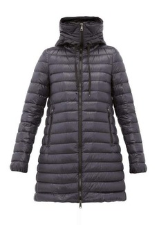 Moncler Logo-appliqué quilted-down hooded coat