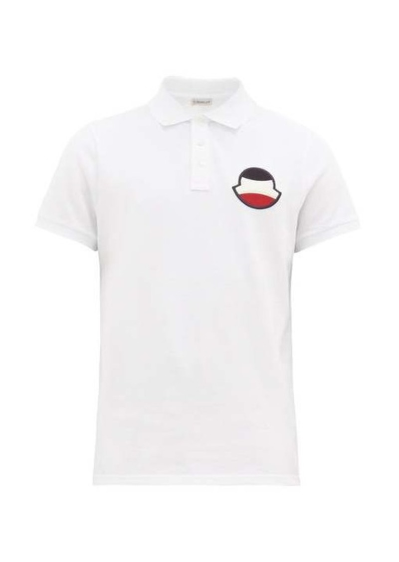 Moncler Logo-embroidered cotton-piqué polo shirt