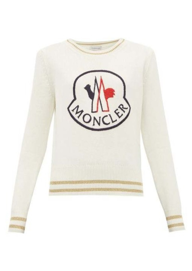 Moncler Logo-embroidered wool-blend sweater
